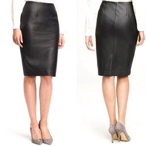Ann Taylor Faux Leather Pencil Skirt